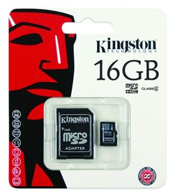 Picture of Kingston Micro SD 16GB SDHC Memory Card